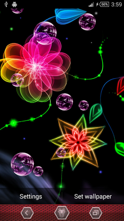 Neon Flowers Live Wallpaper - Android Apps on Google Play