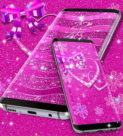 Pink glitter live wallpaper - Android Apps on Google Play