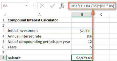 Grab a universal compound interest formula for Excel to calculate interest co...