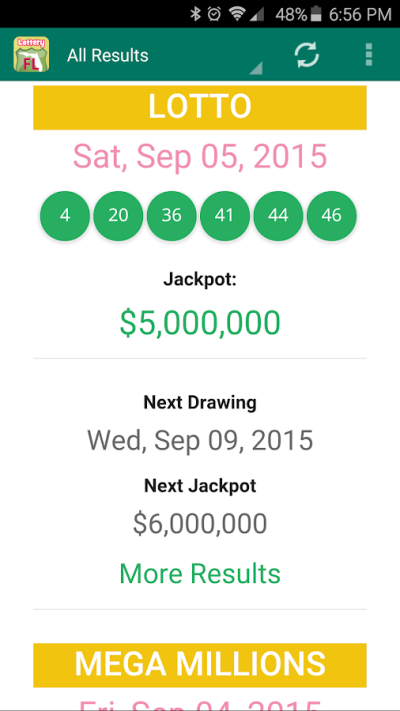 Florida Lottery Results - Android Apps on Google Play