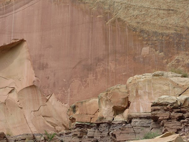 Ancient Fremont Rock Carving - Capitol Reef National Park