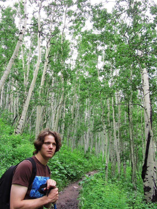 Sam on the Maroon Bells Walk