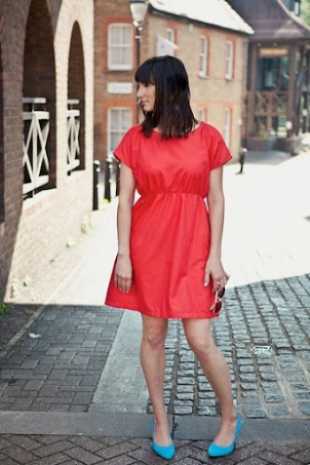 Red Staple Dress at Our Family Four 6