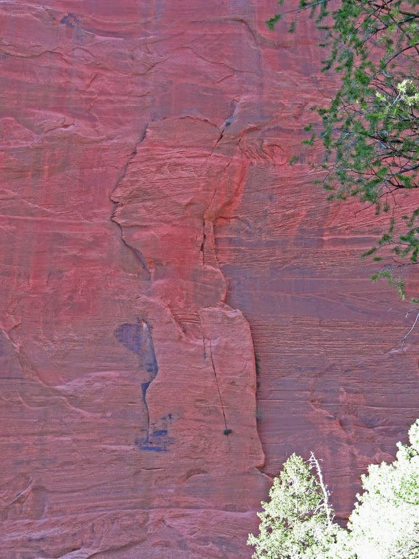 Indian Face in Rock Face