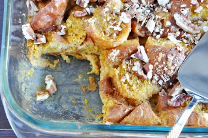 pumpkin brioche bread pudding 096