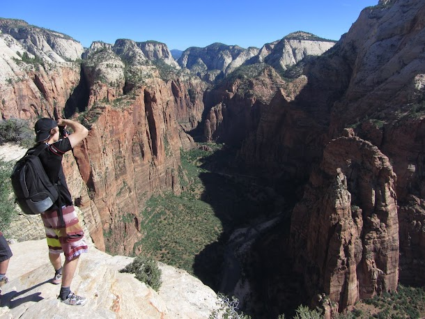 Taking a Photo of Zion Canyon and the Big Bend