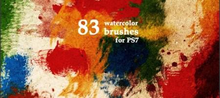 [Brushes整理]水彩筆觸筆刷集-1