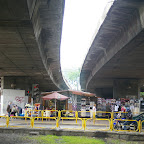 Public market underneath the elevated road.