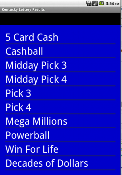 Kentucky winning numbers - Android Apps on Google Play