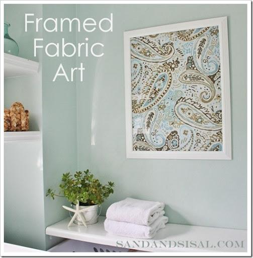 Framed Fabric Art - Sand and Sisal
