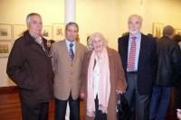 Navidad 2008 en Akros. Juan Antonio Uriarte, Andrés Mateo, Josefina Ojeda, Juan Manuel Egurrola. Se expusieron 128 acuarelas.