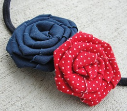 Prettylicious Navy & Red Headband