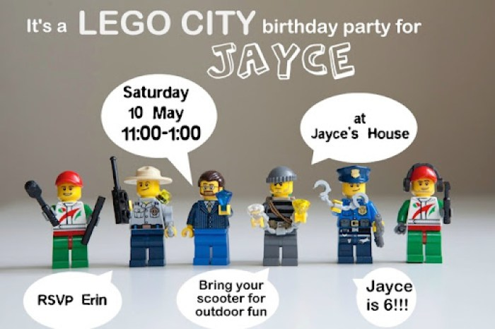 Lego invites no address