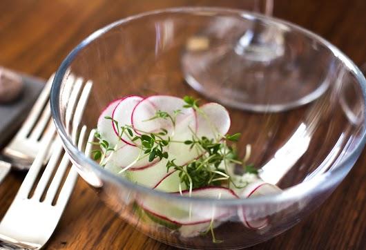 Snack med pighvar og radisser  hos Malling og Schmidt - Mikkel Bækgaards Madblog