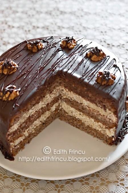 tort cu nuci si ciocolata 1