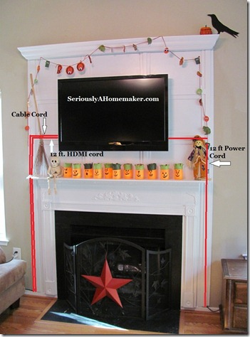 how to hide tv cords in trim work sawdust girl. Black Bedroom Furniture Sets. Home Design Ideas