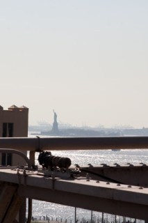 The Lady of Liberty from Brooklyn Bridge