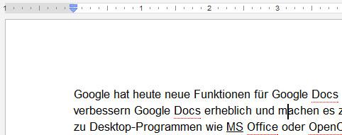 Alleine der Cursor, das Lineal und der Text sind in JavaScript -> HTML