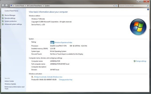 Windows 7 sp1 beta leaked screenshots