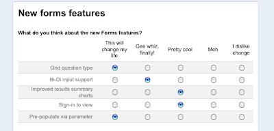Google Forms Grid