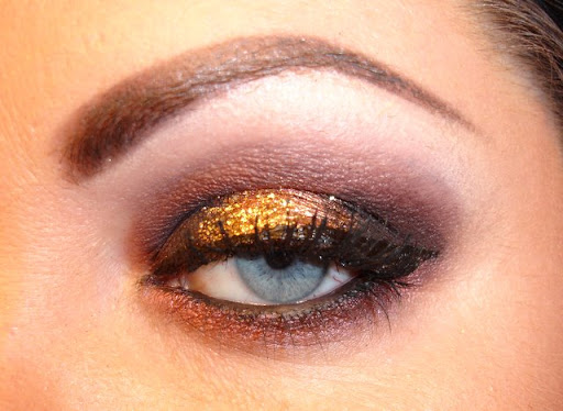 MAC Gold Glitter, MAC Sketch, MAC Star Violet