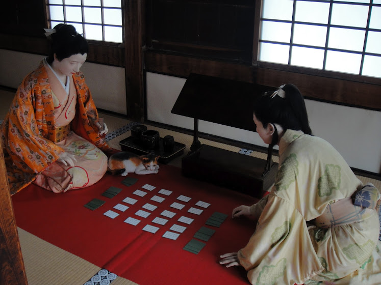 Playing karuta. I really thought they were humans for a moment!