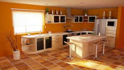 Dapur Bernuansa Oranye