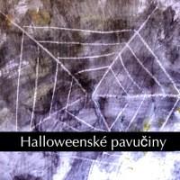 Kreslení pavučiny - Halloweenské malování pro dvouleté děti