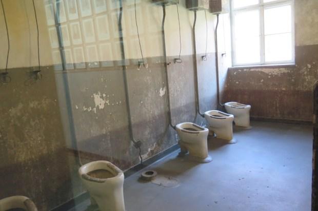 Blick in einen Toilettenraum