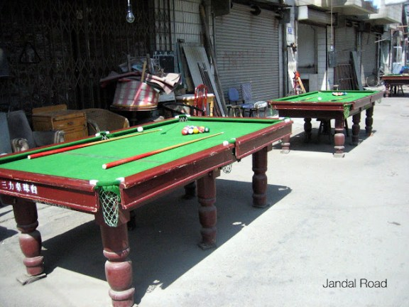 How would you like to play pool in the back streets?