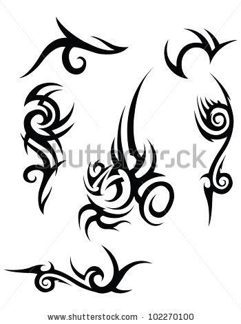 black tribal tattood