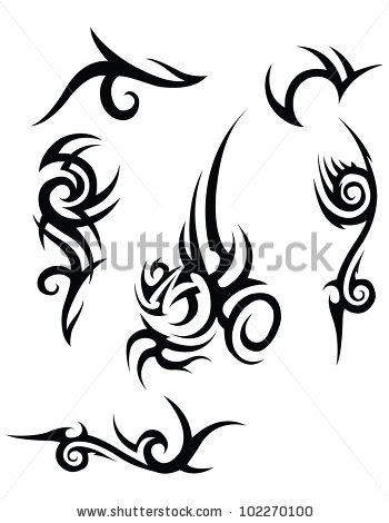 black tribal tattood