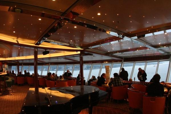 Das Observation Deck ist der höchste Punkt des Schiffes