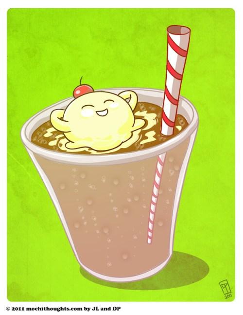 Cute Illustration, Ice Cream Float