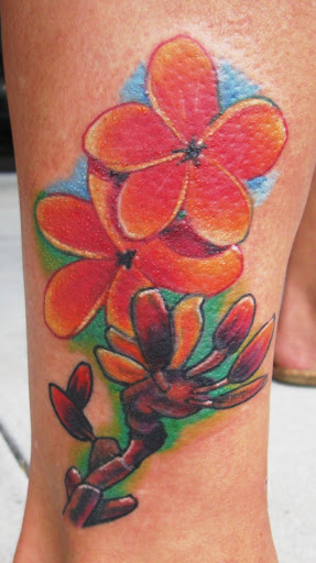 Tattoo Hawaiian Flowers