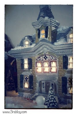 Not REAL winter--Christmas Village www.3rsblog.com