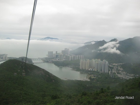 View over Hong Kong from Ngong Ping cable car