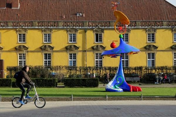 Das Osnabrücker Schloss von der Seite