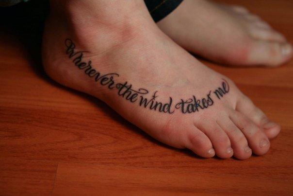 cursive fonts tattoo style