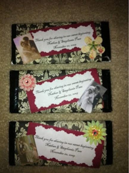 Wedding Favors | The TipToe Fairy #diywedding #diyweddingfavors #weddingfavors #candybars