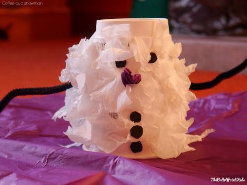 Děti výrobky sněhulák