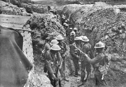 Lancashire Fusiliers trench Beaumont Hamel 1916