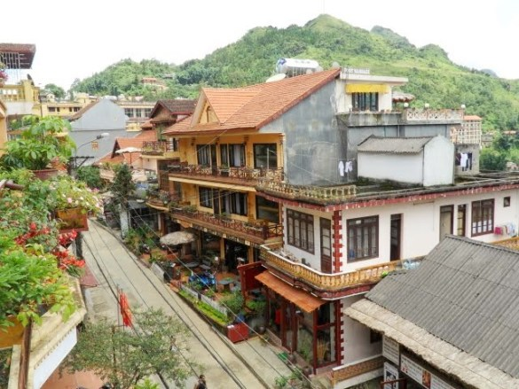 view from my hotel in Sapa, Sapa hotels, where to stay