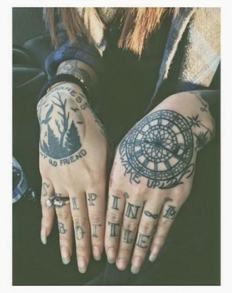 hands tattoos for girls