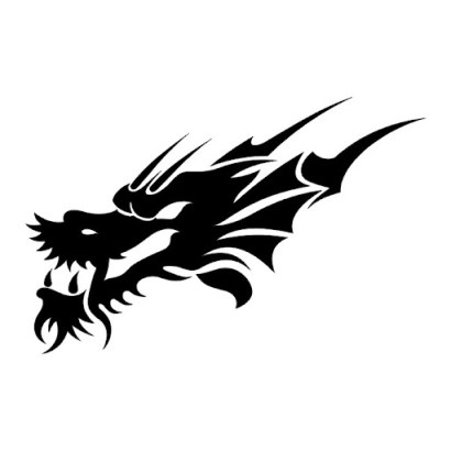 black dragon face tattoo designs