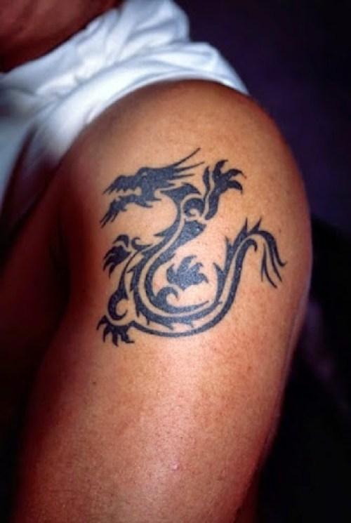 dragon tattoos on shoulder for men