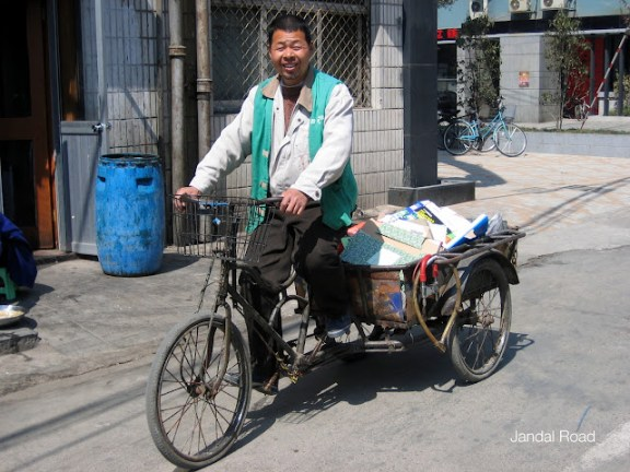 Nanjing, China - man on bike