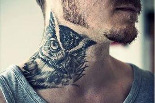 neck tattoo design for men