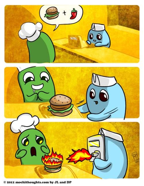 Cute Food Comic, Make Mine Spicy