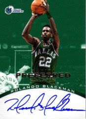 12/13 Panini Preferred Rolando Blackman Green Auto